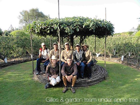 tuinspan saam Gilles onder appelboom copy