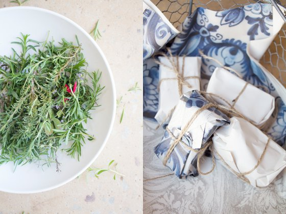 Playing around with Thyme at Babylonstoren's Herb Workshop in 2014