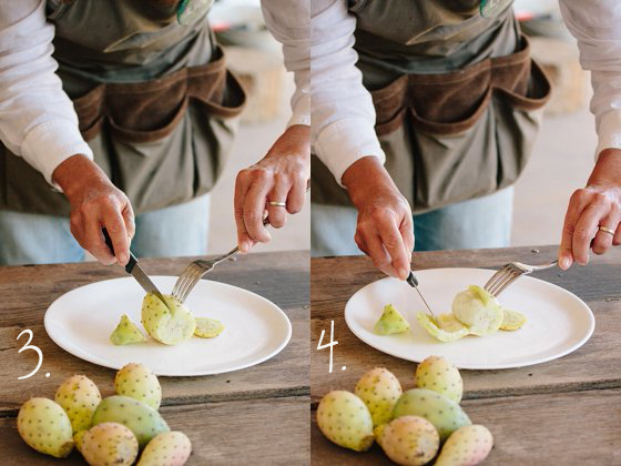 How to cut a prickly pear