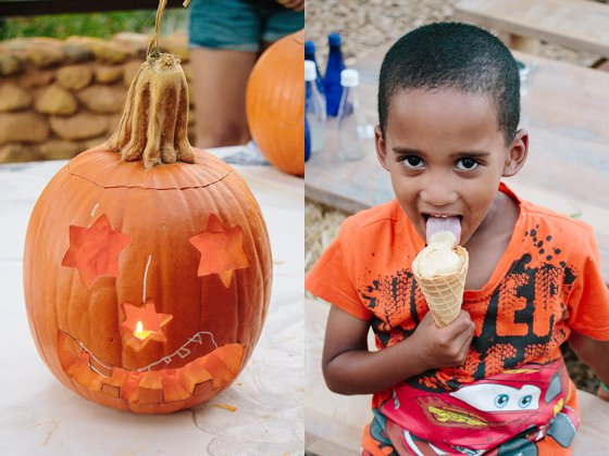 Pumpkin Carving Party with Ice Cream at Babylonstoren