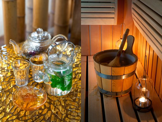 Babylonstoren tea and a bucket for the Babylonstoren Spa sauna