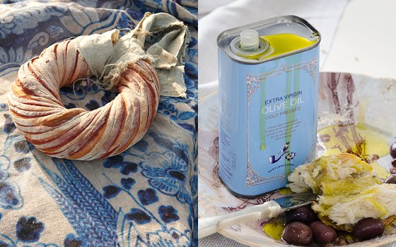 Babylonstoren Olive Oil & Delf Table Cloth