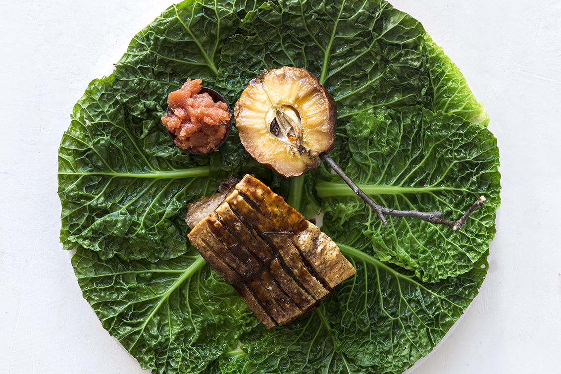 RECIPE: Citrus-roasted pork belly with quince & quince membrillo