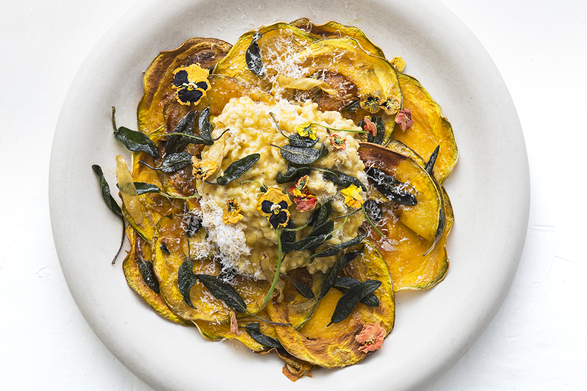 RECIPE: Honey roasted pumpkin risotto with sage butter & parmesan