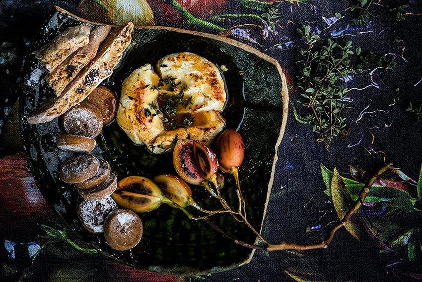 RECIPE: Baked Goat's Cheese with Honey & Thyme