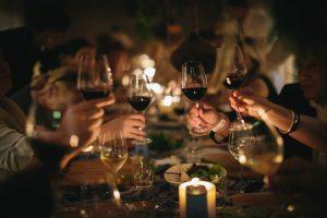 Babylonstoren guests celebrating wine awards