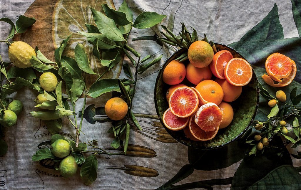 Blood oranges and lemons